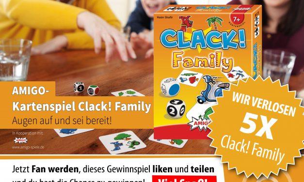Verlosung Amigo Kartenspiel Clack! Family